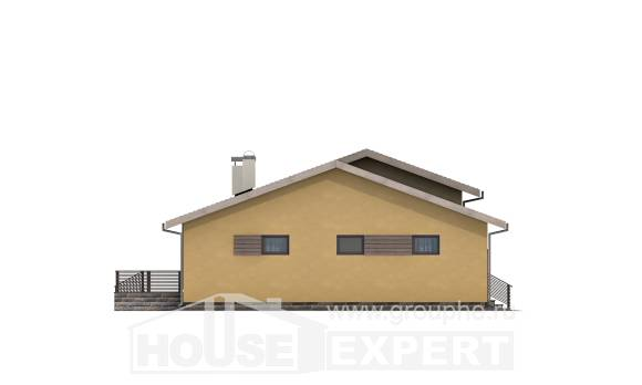 135-002-L One Story House Plans with garage, classic Cottages Plans