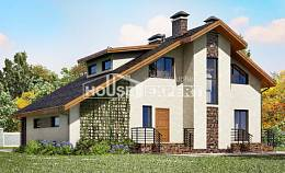180-008-R Two Story House Plans with mansard roof with garage in back, beautiful Home Blueprints,