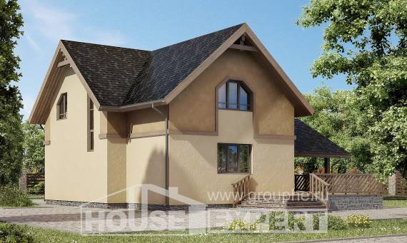 150-011-L Two Story House Plans and mansard with garage, small Architectural Plans,