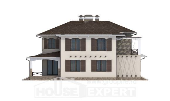 285-002-R Two Story House Plans with garage in back, cozy Cottages Plans,