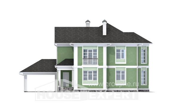 170-001-L Two Story House Plans and garage, economical House Plans