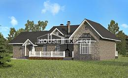 195-001-R One Story House Plans, luxury Blueprints,