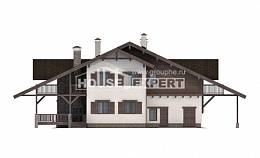 320-001-R Two Story House Plans and mansard with garage in back, luxury House Blueprints,