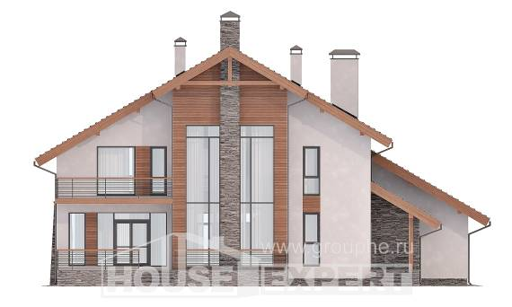 270-003-L Two Story House Plans and mansard with garage in front, beautiful Building Plan,