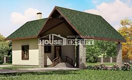 060-001-L Two Story House Plans and mansard with garage, inexpensive Timber Frame Houses Plans, House Expert