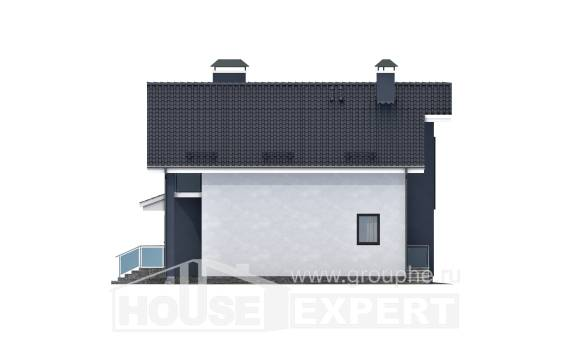 150-005-R Two Story House Plans and mansard, small Home Blueprints
