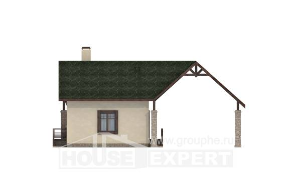 060-001-L Two Story House Plans and mansard with garage in front, compact Home Blueprints,