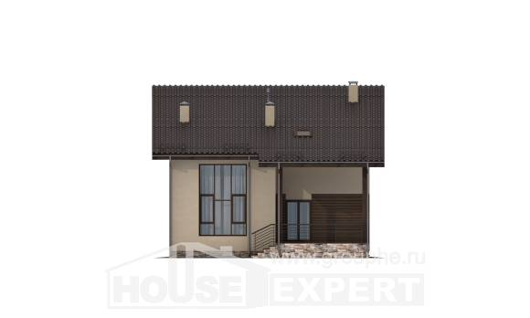 140-005-L Two Story House Plans and mansard, a simple House Planes,