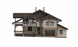 255-002-R Two Story House Plans with mansard with garage under, cozy Floor Plan,