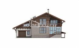 420-001-R Three Story House Plans and mansard and garage, cozy Plan Online, House Expert