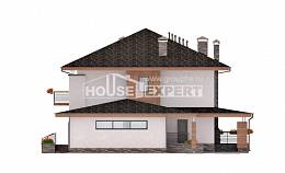 305-001-R Two Story House Plans and garage, classic House Building,