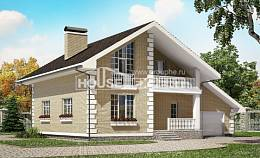 190-005-R Two Story House Plans and mansard with garage in front, beautiful House Plan,
