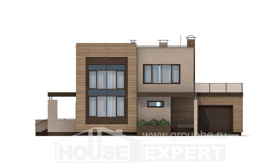 220-003-L Two Story House Plans and garage, classic Drawing House