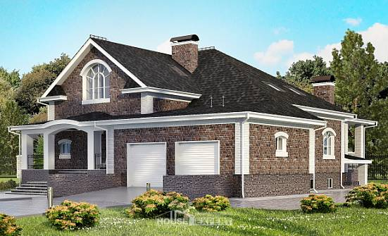 490-001-R Three Story House Plans and mansard with garage in front, luxury Dream Plan, House Expert