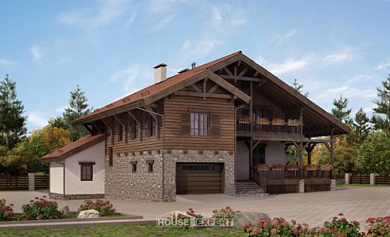 255-002-L Two Story House Plans with mansard roof and garage, beautiful Villa Plan,