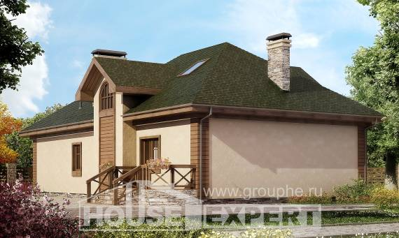 180-010-R Two Story House Plans with mansard with garage in back, classic Home Blueprints,