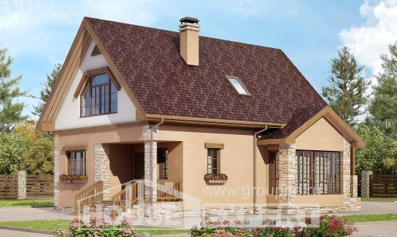 140-002-R Two Story House Plans with mansard, the budget Design Blueprints, House Expert
