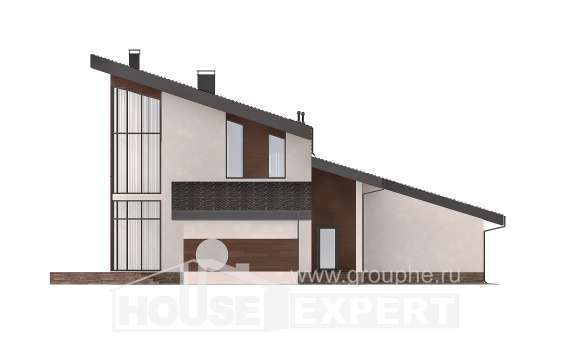 230-001-R Two Story House Plans with mansard roof, a simple Custom Home, House Expert