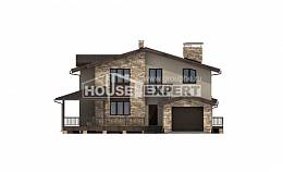 220-001-L Two Story House Plans and mansard and garage, luxury Villa Plan