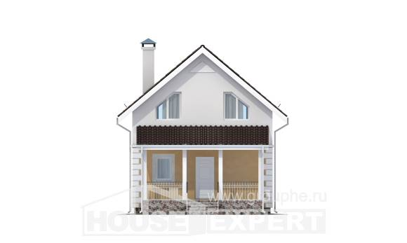 070-002-R Two Story House Plans with mansard roof, classic Online Floor,