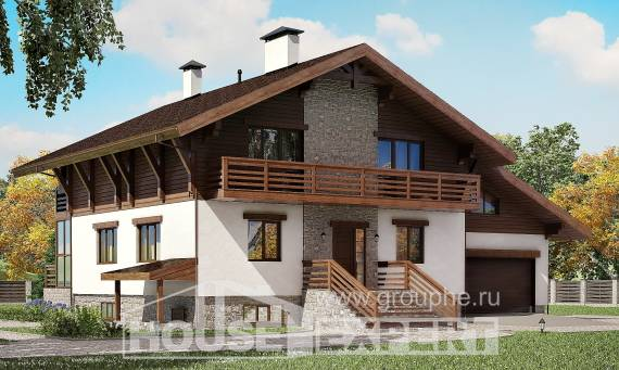 420-001-R Three Story House Plans with mansard and garage, luxury House Planes, House Expert