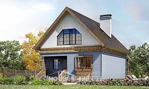 130-003-L Two Story House Plans with mansard roof, a simple House Planes