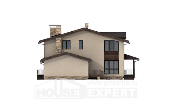 220-001-L Two Story House Plans with mansard roof with garage, spacious Plans To Build