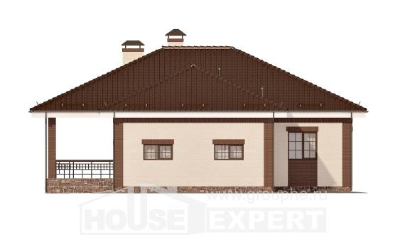 160-015-R One Story House Plans with garage under, best house Home House,
