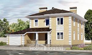 220-006-L Two Story House Plans with garage, luxury Woodhouses Plans