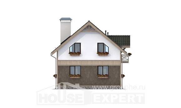 105-001-L Two Story House Plans and mansard, modest House Building,
