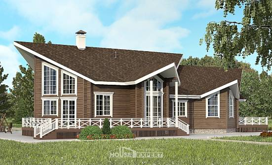 210-002-L Two Story House Plans with mansard, classic Home Blueprints,