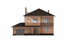 245-003-L Two Story House Plans with garage under, luxury Online Floor,