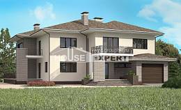 500-001-R Three Story House Plans with garage, beautiful Architectural Plans,