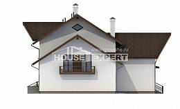 300-002-R Two Story House Plans with mansard roof with garage in back, spacious Plan Online,