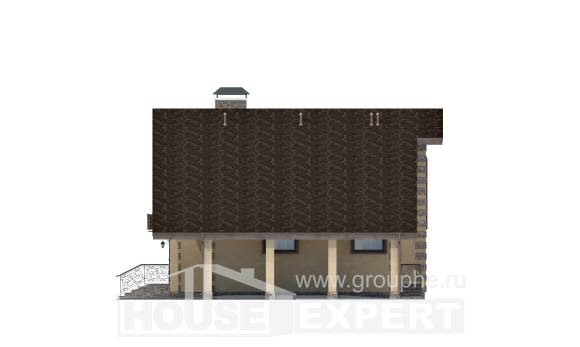 150-003-R Two Story House Plans with garage, the budget Architects House, House Expert
