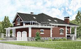 600-001-R Three Story House Plans with mansard with garage in front, big Custom Home, House Expert