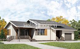 135-002-R One Story House Plans with garage in front, modern Home House,