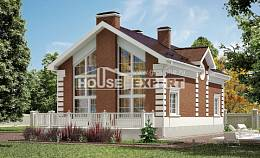 160-009-R Two Story House Plans, a simple Villa Plan