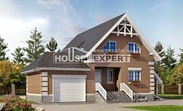 200-009-L Three Story House Plans with mansard roof with garage, spacious House Blueprints
