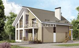 170-006-L Two Story House Plans and mansard, small Plans Free,