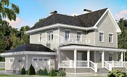 190-001-L Two Story House Plans with garage under, best house Blueprints,
