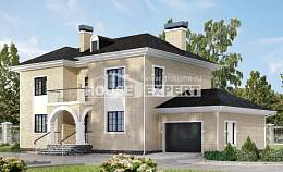 180-006-R Two Story House Plans with garage in front, a simple Models Plans,
