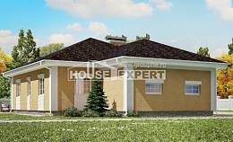130-002-L One Story House Plans and garage, the budget Custom Home Plans Online,