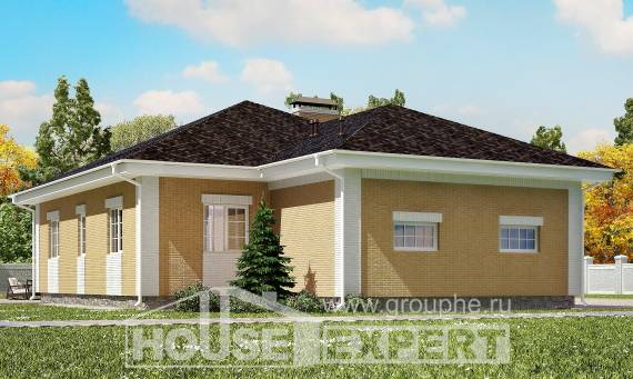 130-002-L One Story House Plans and garage, a simple Design Blueprints