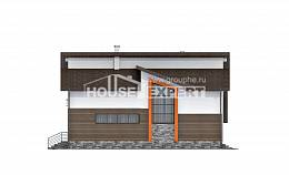 240-004-R Two Story House Plans with mansard and garage, spacious House Planes, House Expert