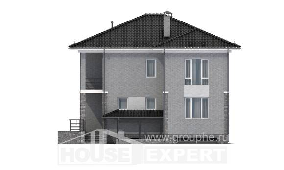 275-004-R Three Story House Plans and garage, best house Timber Frame Houses Plans, House Expert