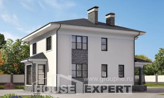 155-011-R Two Story House Plans, inexpensive Custom Home Plans Online, House Expert