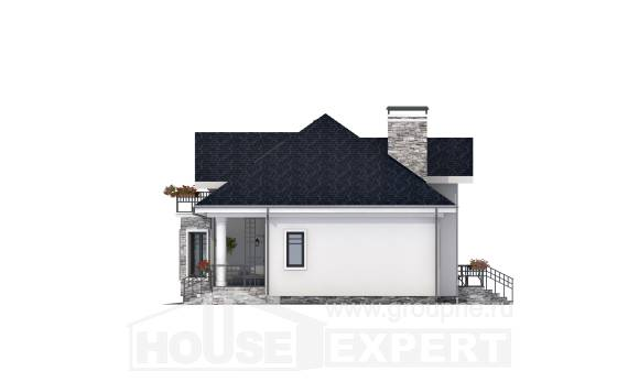 150-008-R Two Story House Plans with mansard, the budget Home Blueprints,