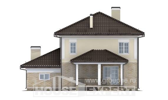 220-007-R Two Story House Plans with garage, modern Online Floor