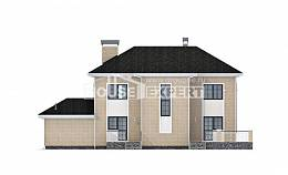 180-006-R Two Story House Plans with garage in back, classic Plan Online,